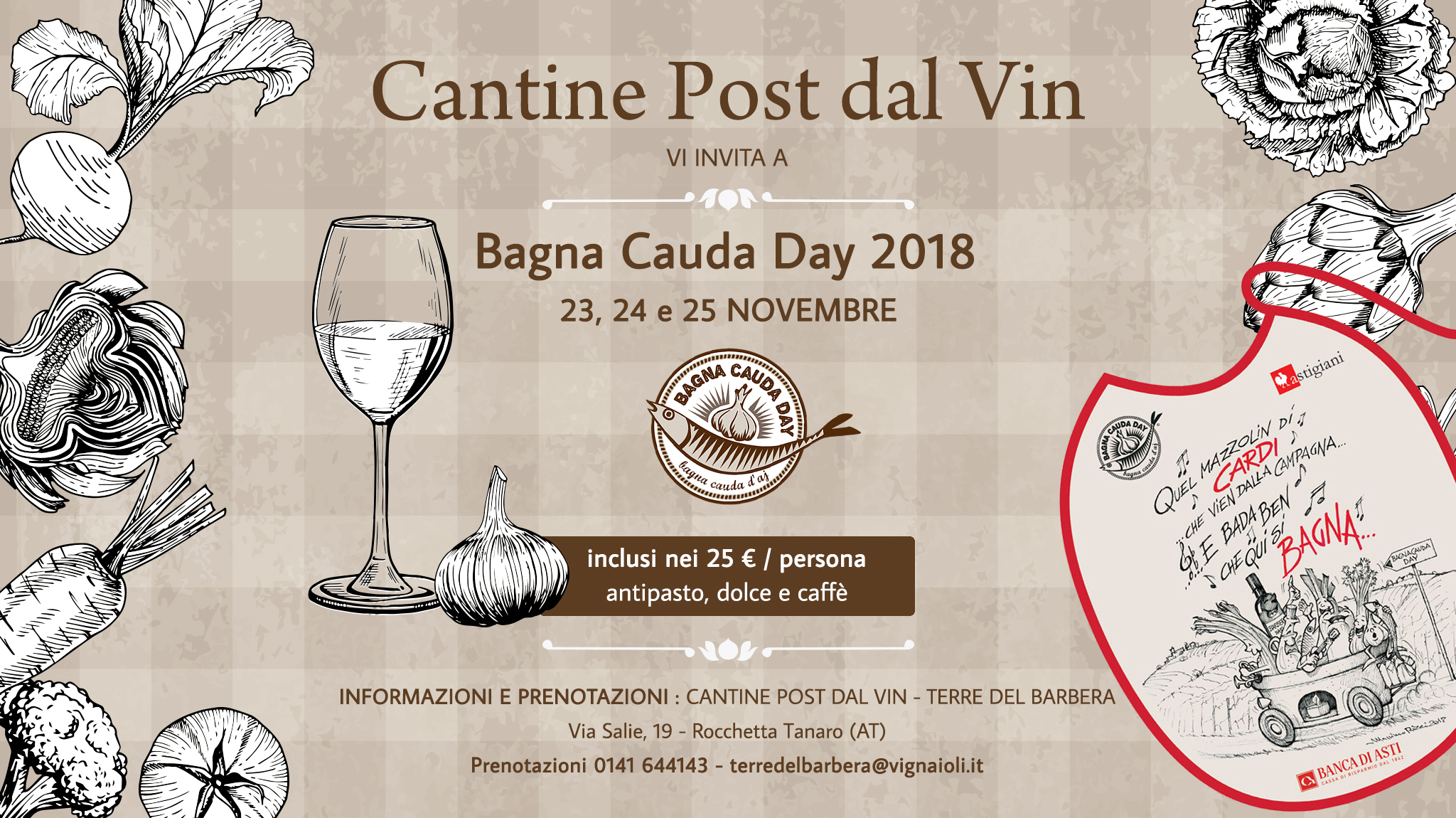 Bagna Cauda Day 2018 Cantine post dal Vin