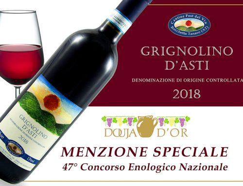 Menzione Speciale 47° Douja d'Or – Grignolino d'Asti 2018