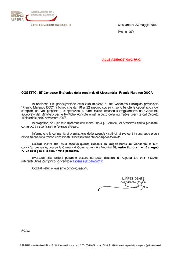 Barbera d'Asti DOCG 2016 REBARBA tra le Selezioni Speciali 45° Premio Marengo doc