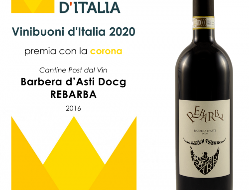"Vini buoni d'Italia 2020 – Corona a ""Barbera d'Asti docg REBARBA 2016"""