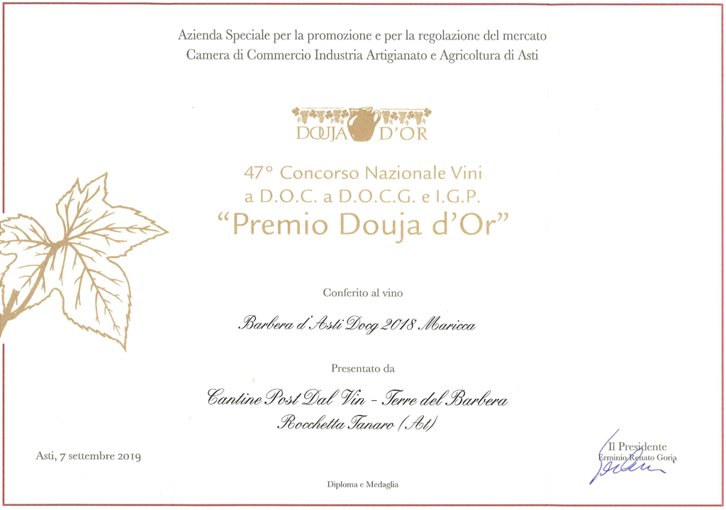 Premio 47° Douja d'Or - Maricca 2018