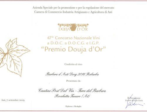 I vini Post dal Vin premiati alla  47° Douja d'Or