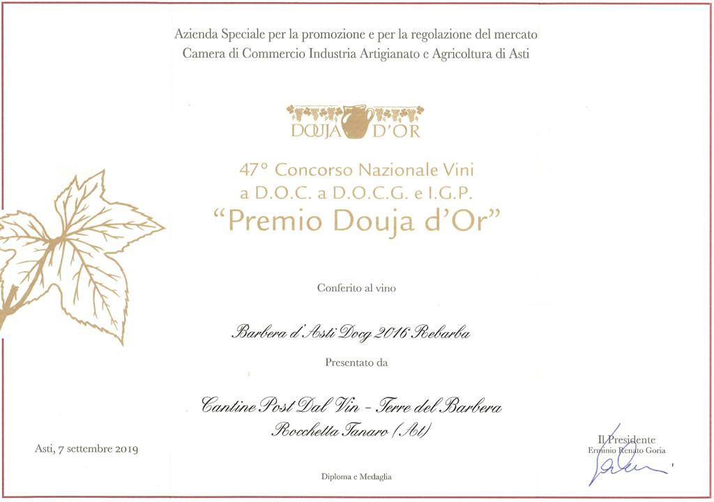 Premio 47° Douja d'Or - Rebarba 2016