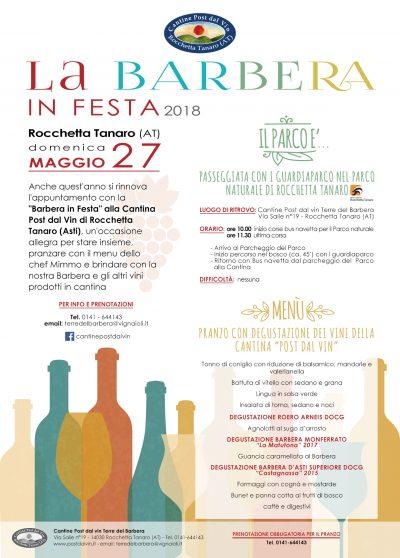 La Barbera in festa 2018 - Post dal Vin - Rocchetta Tanaro