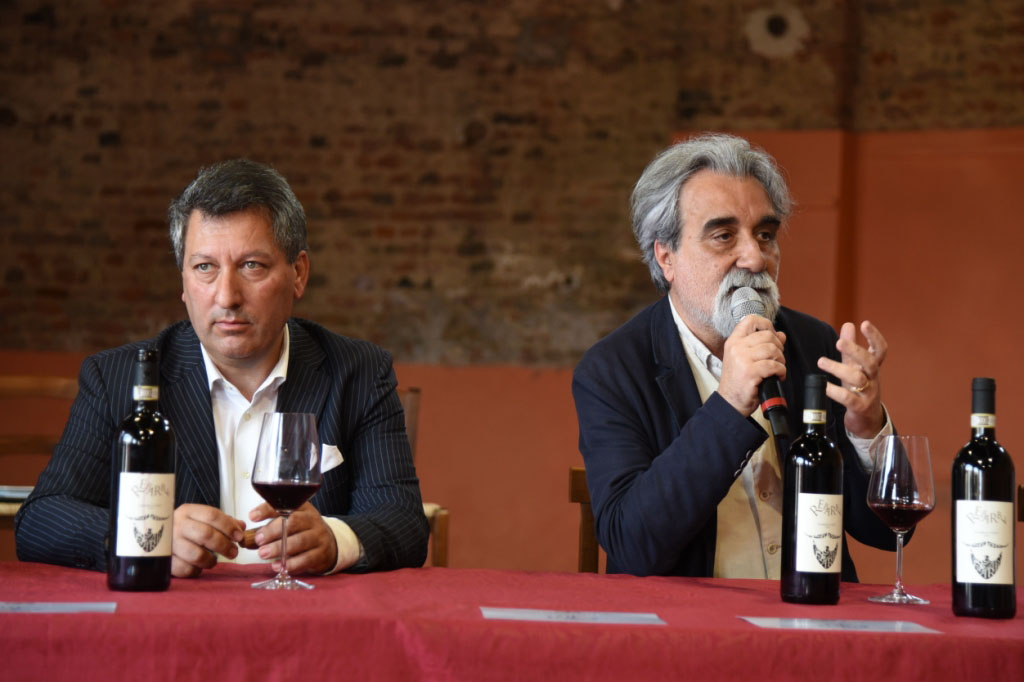 Rebarba, barbera d'Asti affinata in musica
