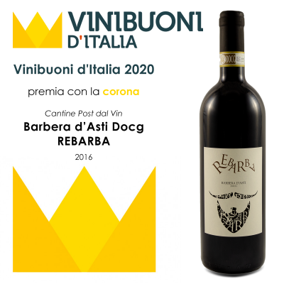 Barbera d'Asti docg Rebarba - Corona vini buoni d'Italia 2020