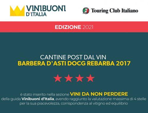 Rebarba 2017 in Vinibuoni d'Italia Ed. 2021