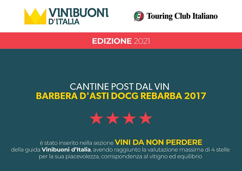 Rebarba 2017 Vini buoni d'Italia da non perdere